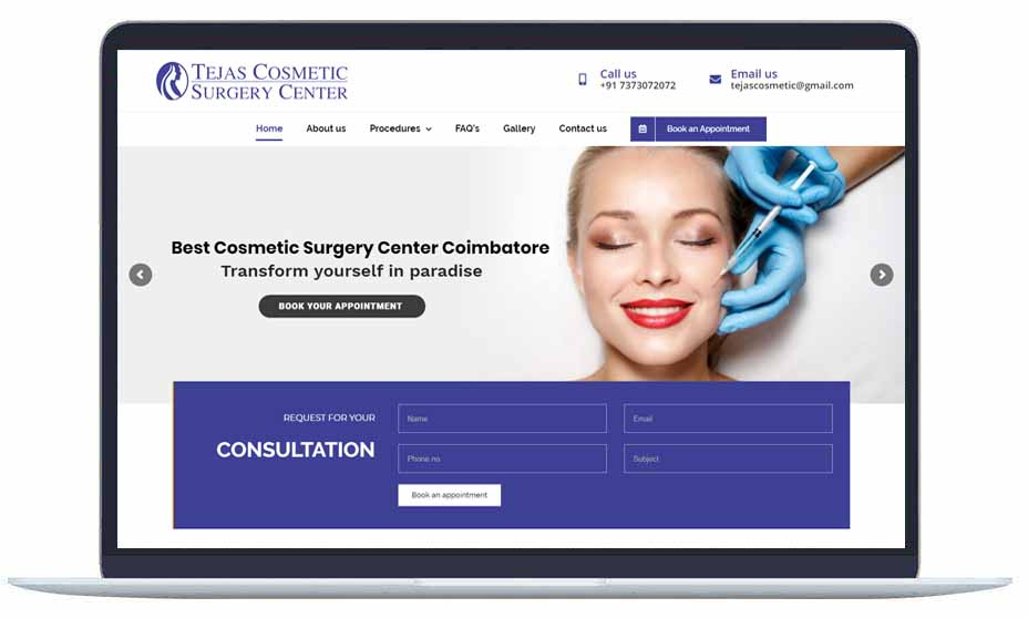 cosmetic-surgery-website design